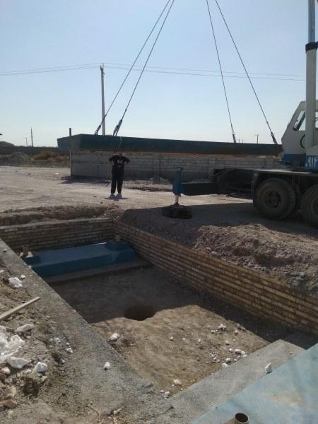 نصب باسکول ۵۰ تنی شرکت شایان آذربایجان