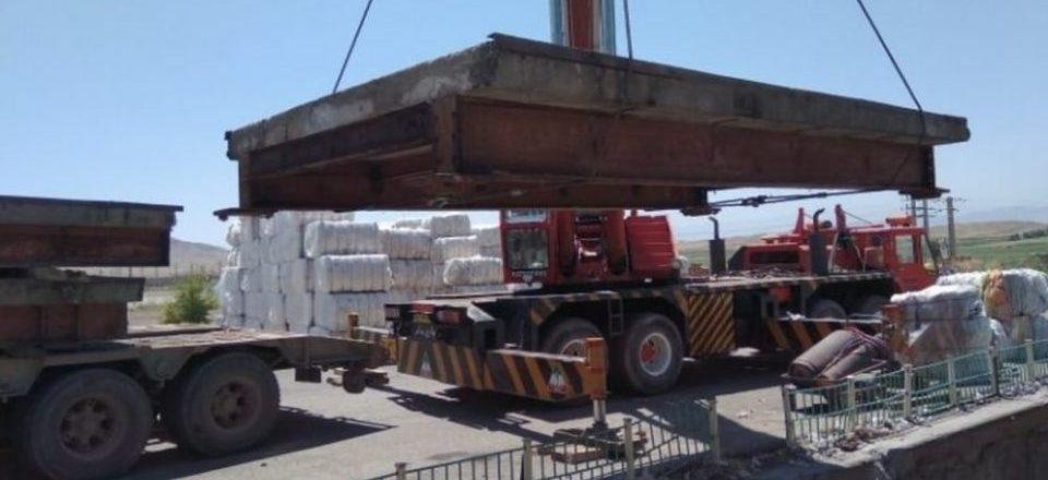 دمونتاژ و نصب باسکول ۶۰ تنی